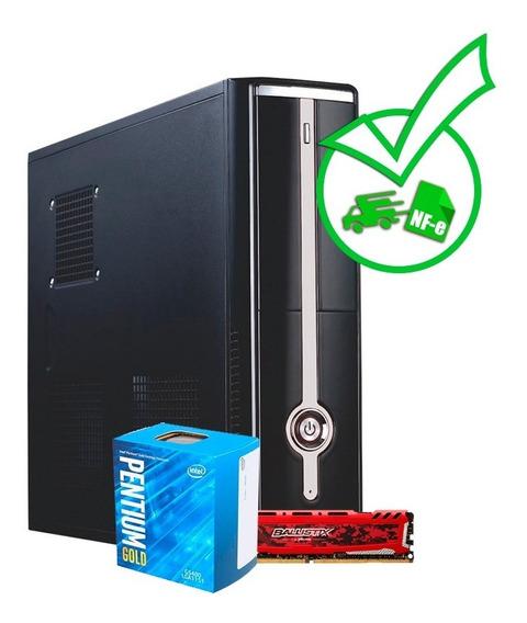 Computador Slim Pentium G5400 + 8gb + Windows 10 Original
