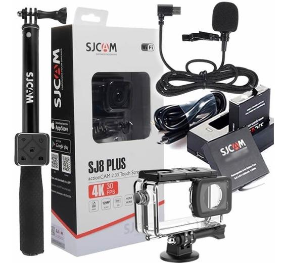 Sjcam Sj8 Plus + Controle Rem, Microfone, 2xbateria + Carreg