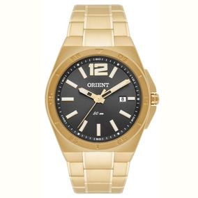 Relógio Orient Mgss1102 Masculino Dourado Visor Cinza