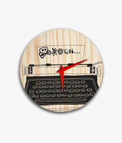 Relógio De Parede - Máquina De Escrever