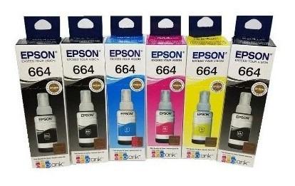 Kit 6 Tinta Epson Original L395 L375 L365 L220 L455 L355