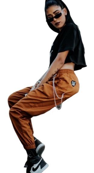 Pantalon Jogger Pants Dama Moda Camel