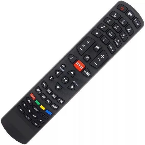 Controle Philco Remoto Tv Led 3d Rc3100l03 Função Netflix