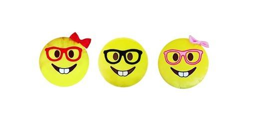 Kit 3 Pelucias 33x33 Com Envio Rápido - Emojis Nerds