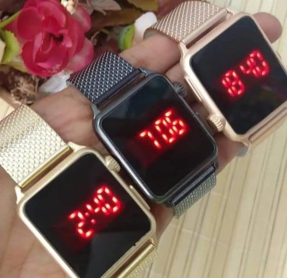 Relógio Digital Eura Led