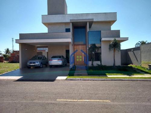 Casa Com 3 Dormitórios À Venda, 300 M² Por R$ 1.200.000,00 - Condominio Golden Park Residence - Mirassol/sp - Ca1553