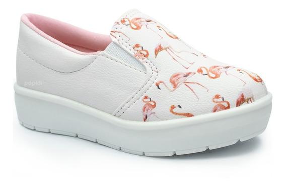 Tenis Iate Slip Infantil Menina Flamingo Unicornio Sapato 27