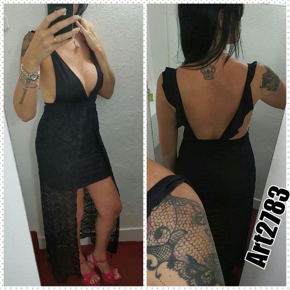 Vestido Largo Encaje,escotado,fiestas 2018 Stampa Woman