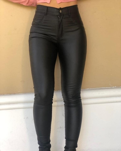 Pantalon Engomado Tiro Alto Talles S Al Xl Mercado Libre