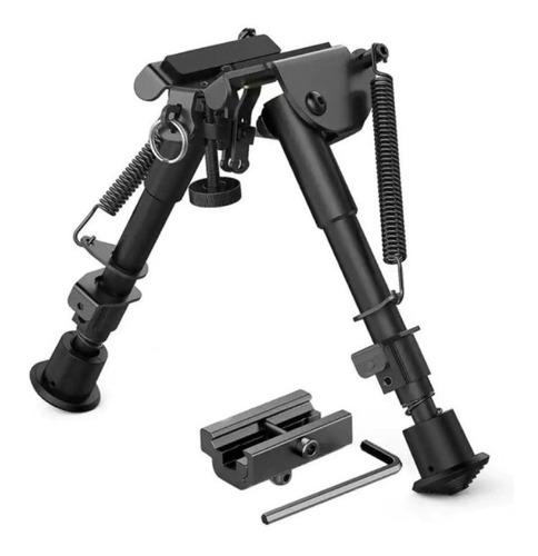 Imagem 1 de 8 de Bipé BiPod Tático Sniper Carabina Airsoft + Adaptador Trilho