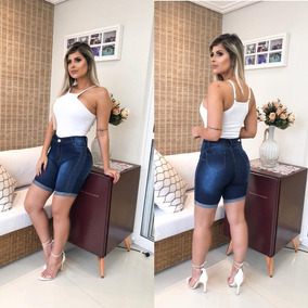Short Shortinho Jeans Feminino Hot Pants Lycra Bermuda Linda