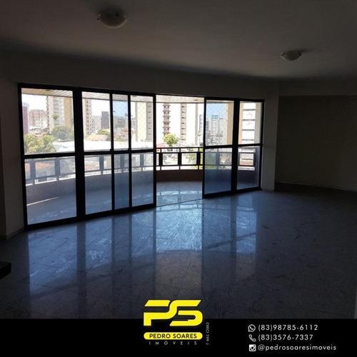 (oportunidade)  Apartamento Com 4 Dormitórios À Venda, 231 M² Por R$ 1.895.000 - Tambaú - João Pessoa/pb - Ap4276