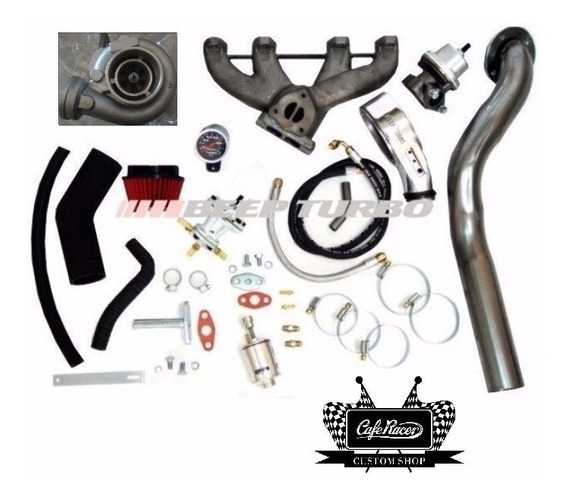 Kit Turbo Ap Carburado Pulsativo Com Turbina 42/48