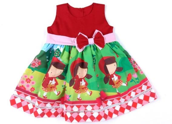 Sapatilha Chapeuzinho Vermelho + Vestido Infantil