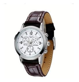 Relógio Masculino Pulseira De Couro Nary Modelo 6033