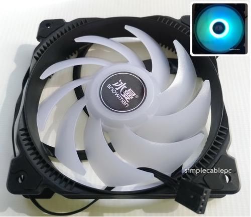 Ventilador 120 Mm Rgb Fijo Led - Fan Cooler 120 Mm  - 4 Pin