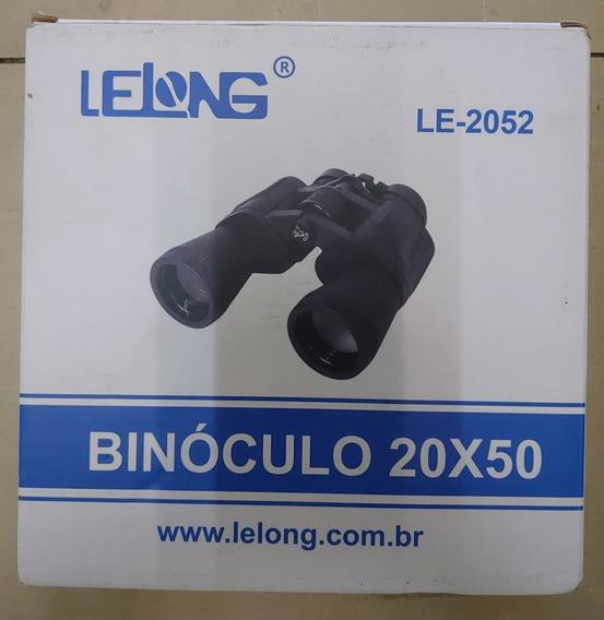 Binóculo Lelong 2052 Emborrachado Longo Alcance 20x50 Comp
