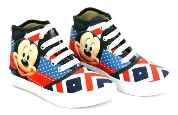 Tênis Botinha Mickey Infantil Meninos Promoção