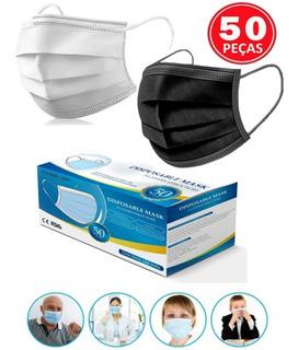 Máscara Esterilizada Descartável Tripla Camada+clip+elástico