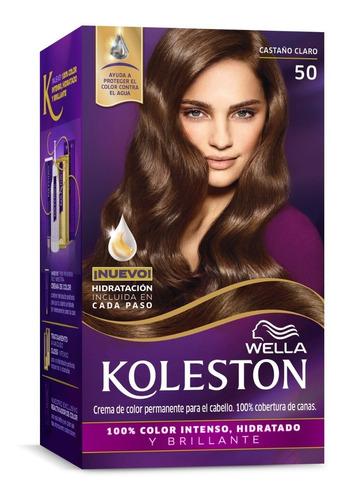 Tintura Wella Koleston Kit Permanente Castaño Claro 50