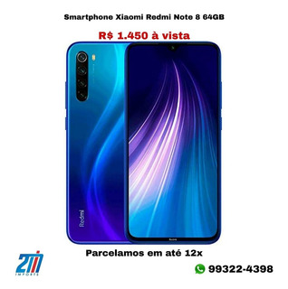 Celular Redmi Note 8 64gb 1450,00 Avista