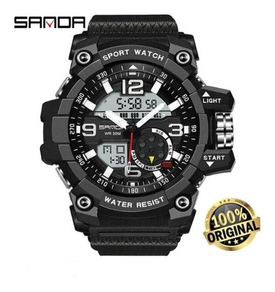 Relógio Sanda Analógico Digital Esportivo Militar Unipower