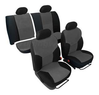 Negro-gris triángulos fundas para asientos para Opel Meriva asiento del coche referencia completamente
