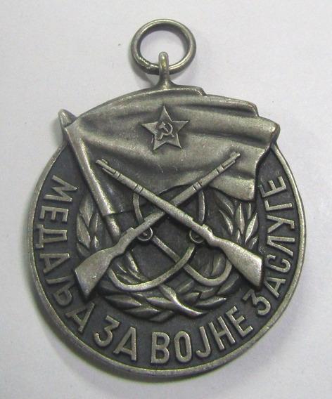 Yugoslavia 1963 1992 Medalla Orden Militar Al Merito Fnrj