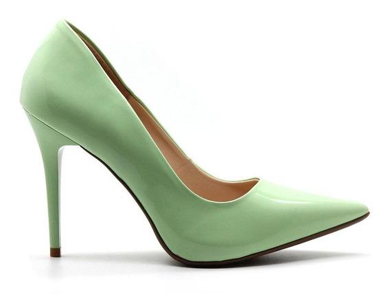 Scarpin Royalz Verniz Penélope Verde Claro