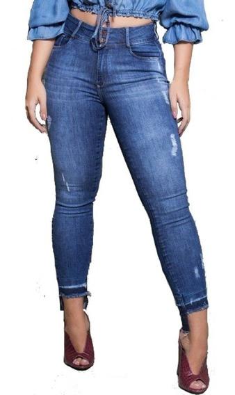 Calça Verbo Jeans Skinny Recorte Na Barra