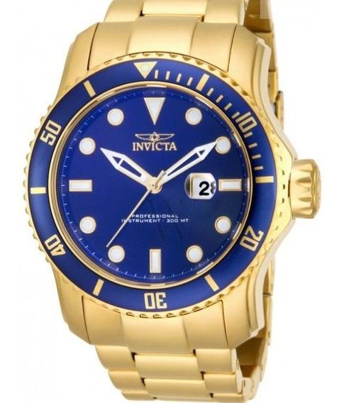 Relógio Invicta Pro Drive 15352 Gold Ouro 18k