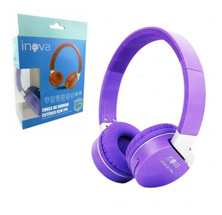 Fone De Ouvido Bluetooth Fm P2 Mp3 Sem Fio Wireless Atend. Chamadas Super Qualidade De Som