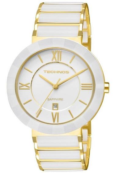 Relógio Technos Feminino Luxo Aço+cerâmica2015bv/4b Original