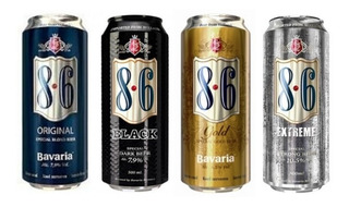 Cerveza Importada Holandesa Bavaria 8.6 Fourpack Lata 500ml