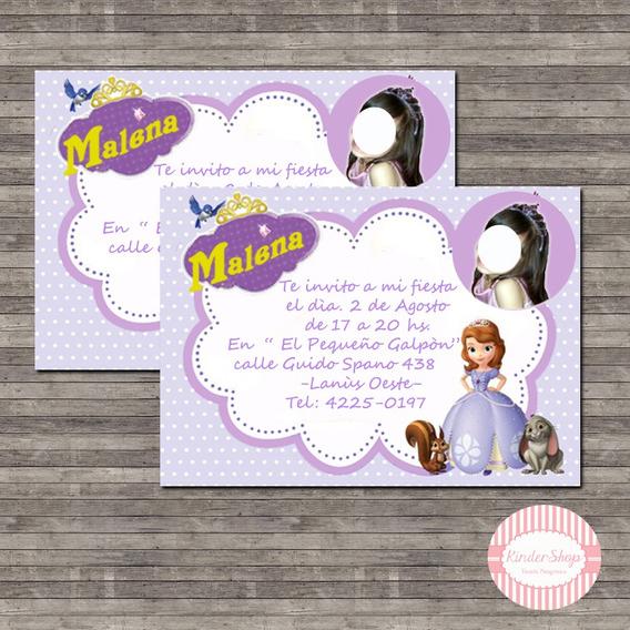 Tarjetas De Invitacion Princesa Sofia Otros Kits