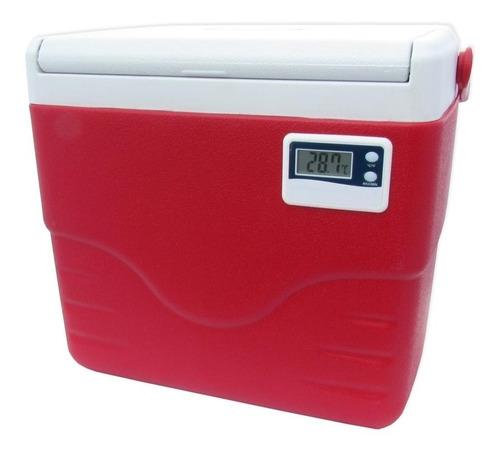 Imagem 1 de 3 de Caixa Térmica Com Termômetro 8,5 Litros - Coleman - Vermelho