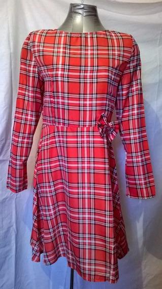 Vestido Cuadrille Rojo, Nuevo, Talla M