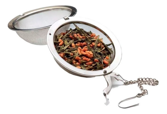Infusor De Chá Aço Inoxidável Peneira Coador Chaleira