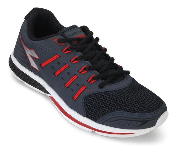 Tênis Diadora Grid Dd18-125607 Marinho/vermelho