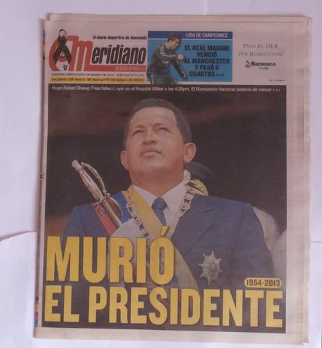 Imagen 1 de 3 de Periodico El Meridiano  6 Marzo 2013 Nuevo