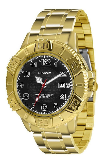 Relógio Lince Masculino Analógico Mrg4334l P2kx Dourado