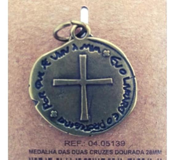 Combo Especial 4 Unidades Medalhas Cor: Ouro Velho- 2,8cm