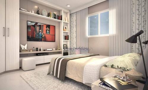 Imagem 1 de 21 de Apartamento Com 2 Dormitórios Sendo 1 Suíte, À Venda, 88 M² Por R$ 493.904 - Maracanã - Praia Grande/sp - Ap0806