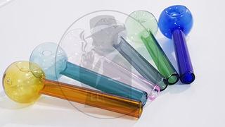 Pipa Cristal Reforzada Colores 25pzs, 33mm