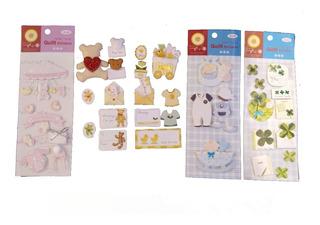 Set 10 Planchas Stickers 3d Scrapbook Tarjetas