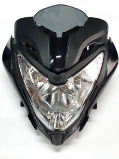 Optica Completa Mascara Bajaj Rouser Ns 200 Negro - Xp Moto