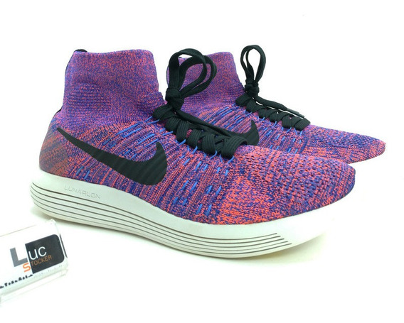 Tênis Nike Lunar Epic Flyknit Mid Roxo