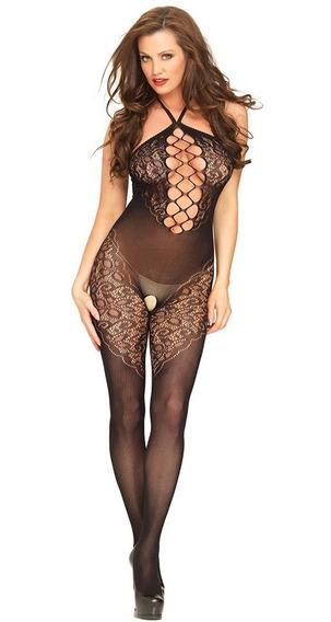 Body Enterizo Sexy Mujer Malla Cuello Halter E79993