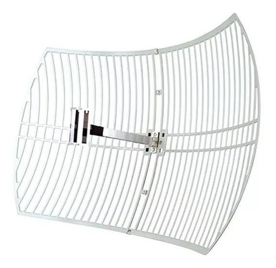 Antena Externa Rejilla Parabólica Enlace Wifi 2.4ghz