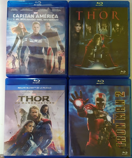 Blu Ray Avengers Iron Man Thor America Marvel Dc Originales